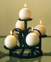 Five Candle Round Candle Holder